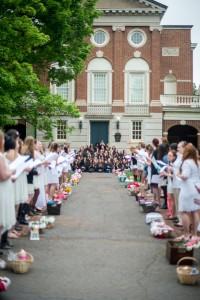 Lantern Bearing; photo by Cassie Foster/Sweet Briar College